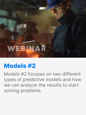 Models #2 focuses on two different types of predictive models and how we can analyze the results to start solving problems.